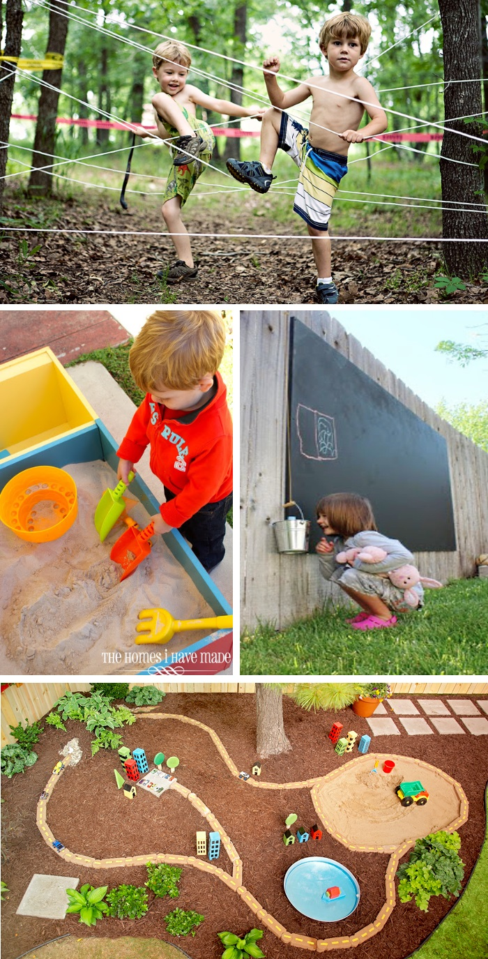 diy Back yard ideas play spaces