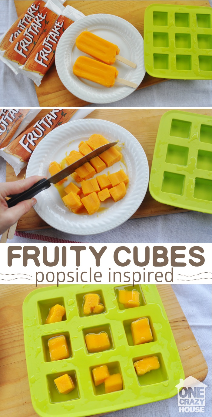 dress up drinks with fruity cubes