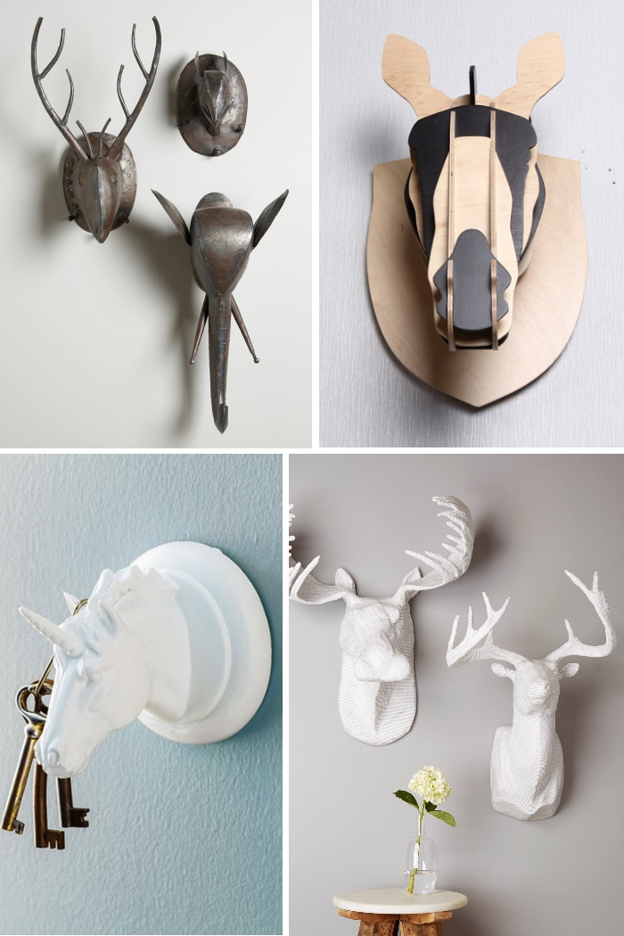 30 wall art installations that will wow for Animal head wall decoration