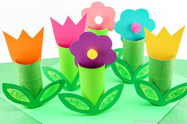 Toilet-Paper-Roll-Flower-Craft