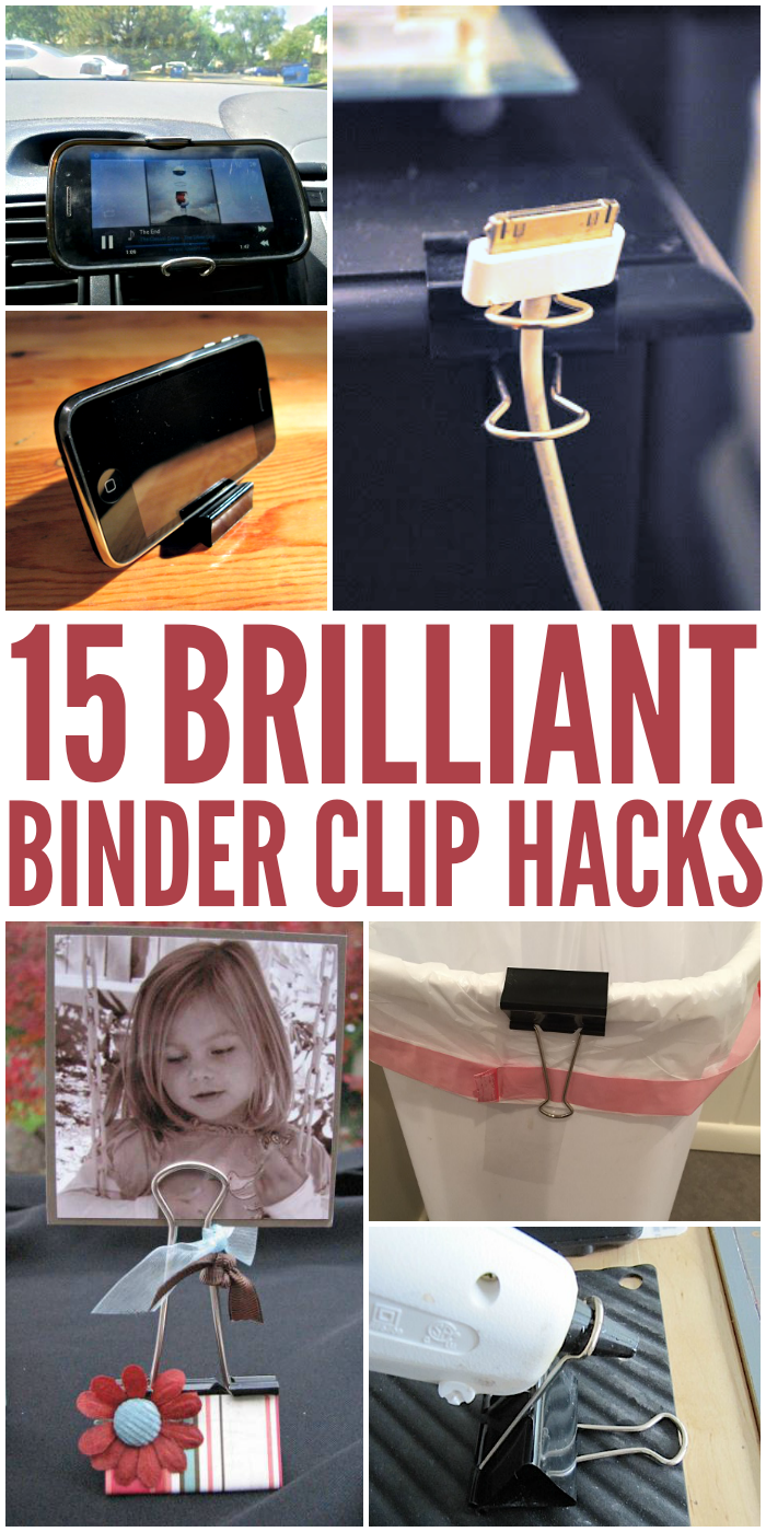 Did you know binder clips can be used for more than just holing paper together? Check out these great DIY tips and tricks!