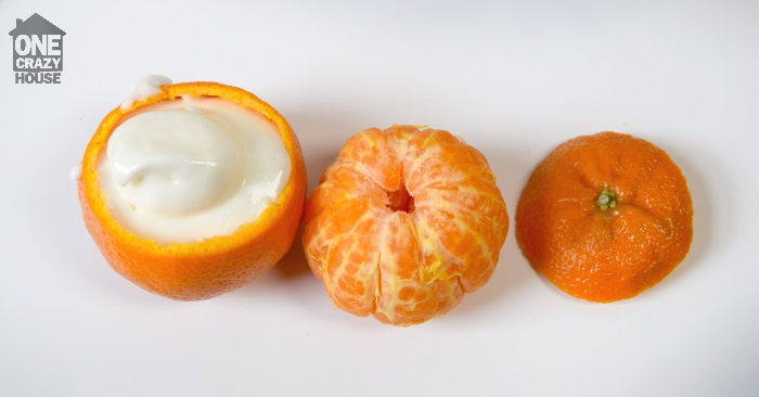 use an orange as a cupcake liner
