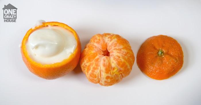 use an orange as a cupcake liner