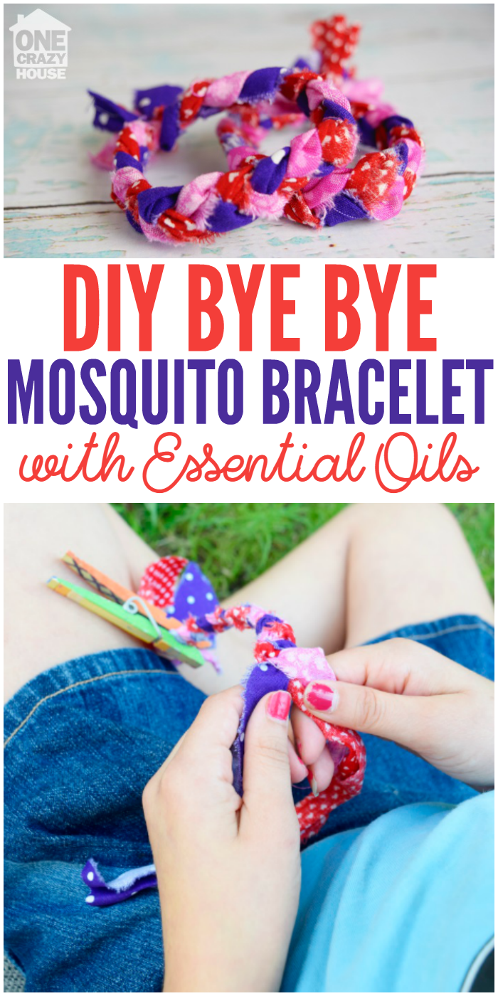 DIY Bye Bye Mosquito Bracelet with Essential Oils pin image