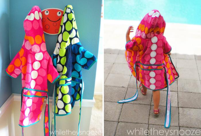 beach towel hoodie