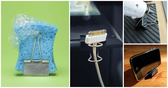 15 Binder Clip Hacks That Will Blow Your Mind