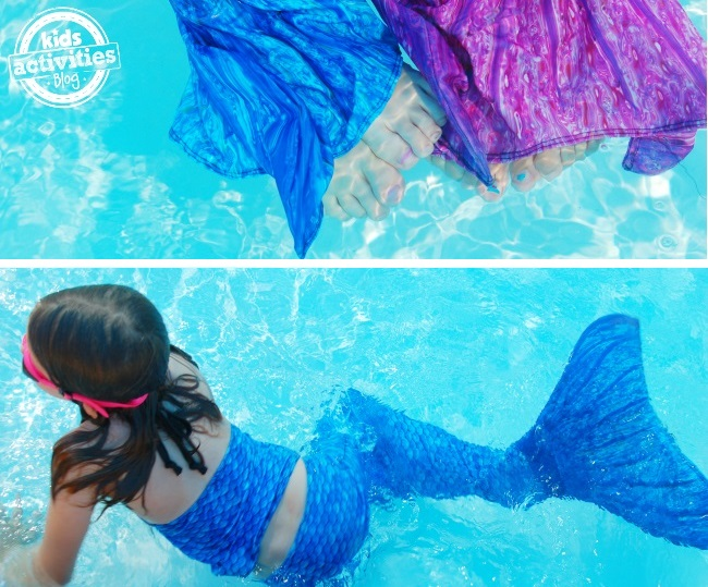 get a mermaid tails to swim in