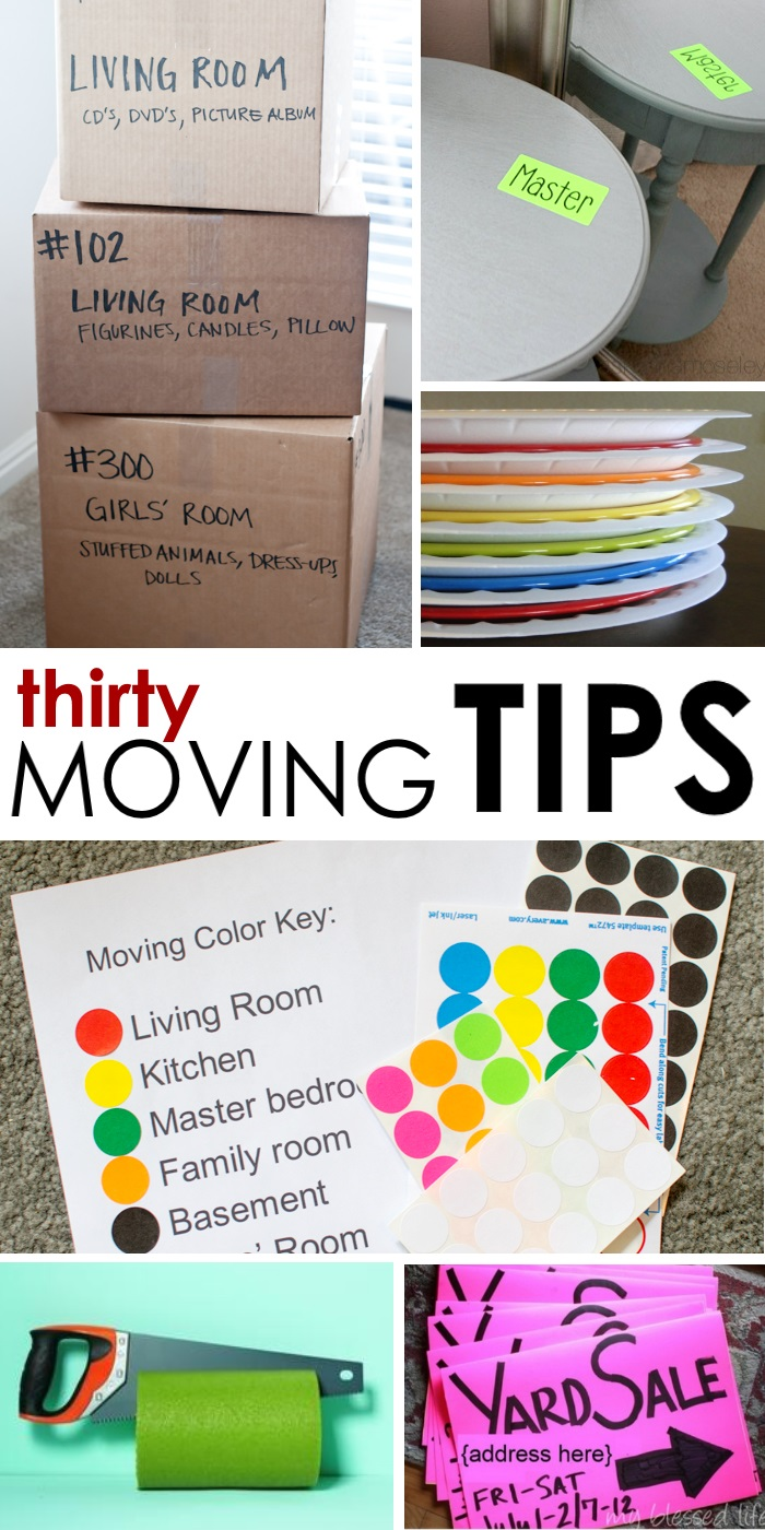 Moving tips to keep you from going insane for Moving into a new build house tips