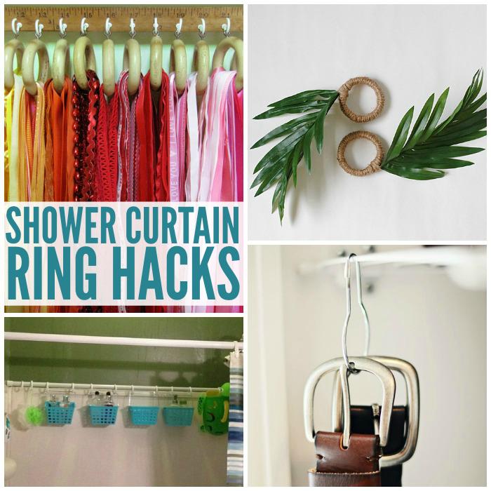 Shower Curtain Ring Hacks