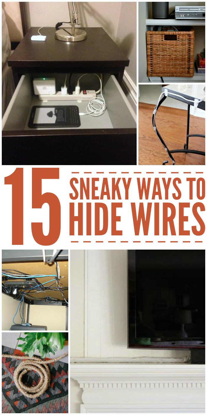 cable management 15 ways to hide ugly wires. Black Bedroom Furniture Sets. Home Design Ideas