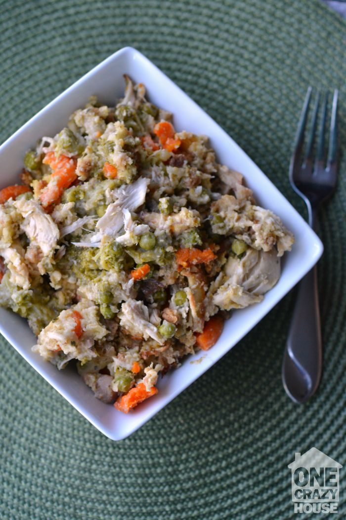 Crock Pot Chicken, Vegetables and Stuffing