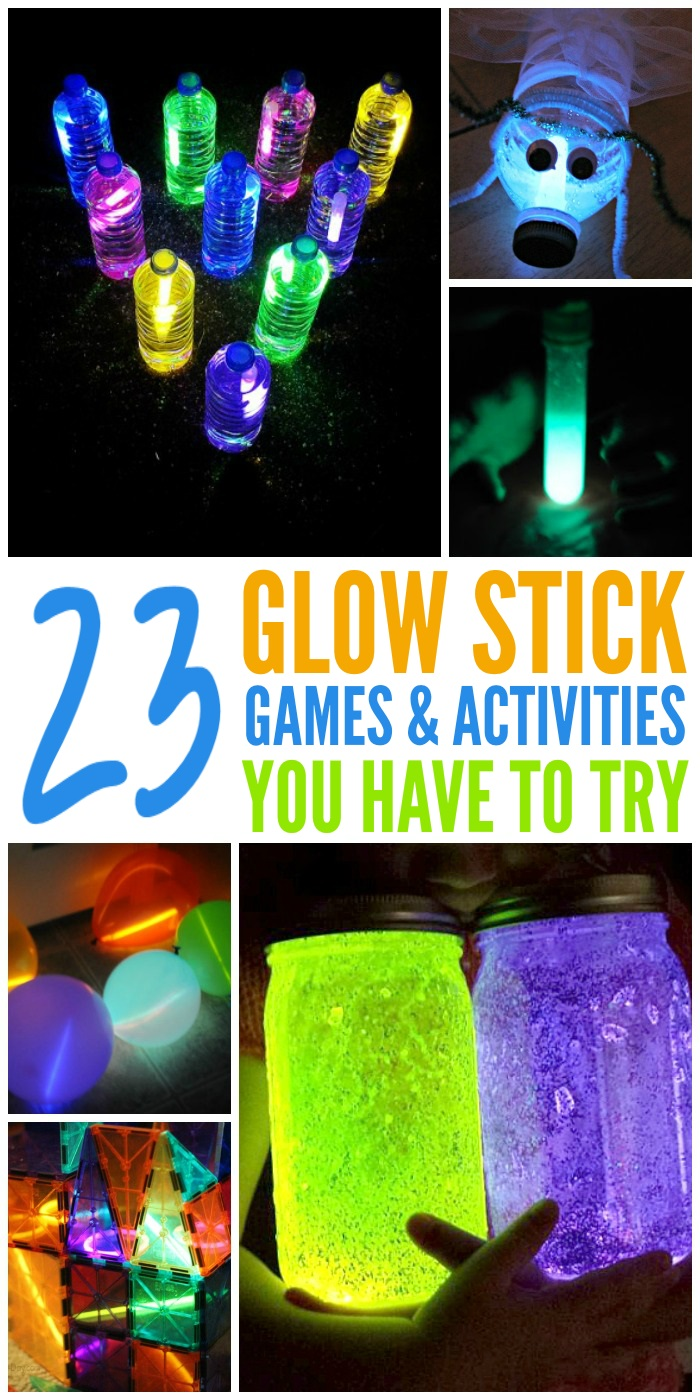 23 mesmerizing glow stick activities for kids one crazy house. Black Bedroom Furniture Sets. Home Design Ideas
