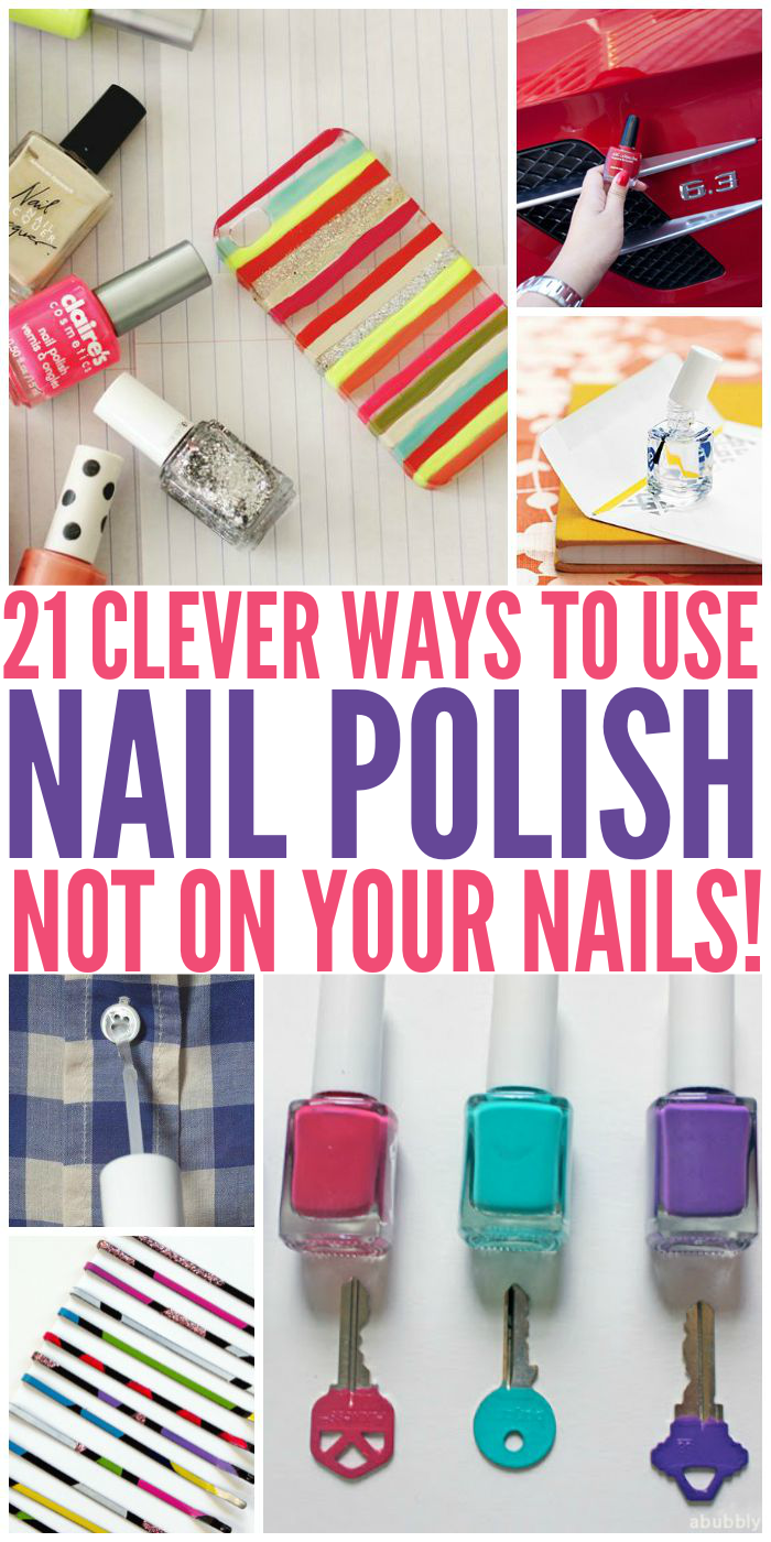From fun crafts for kids to quick fixes, we've collected 21 absolutely clever uses for nail polish that don't involve your nails.