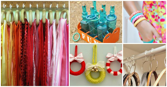 16 Unexpected Ways to Use Shower Curtain Rings