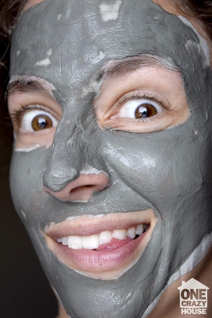 wet mud mask goofy look