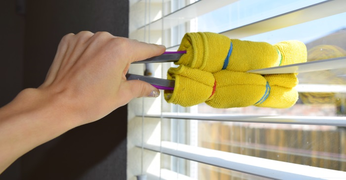 best way to clean window blinds