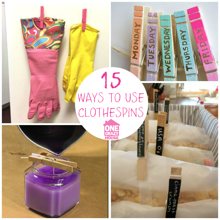 Clever Ways to Use Clothespins