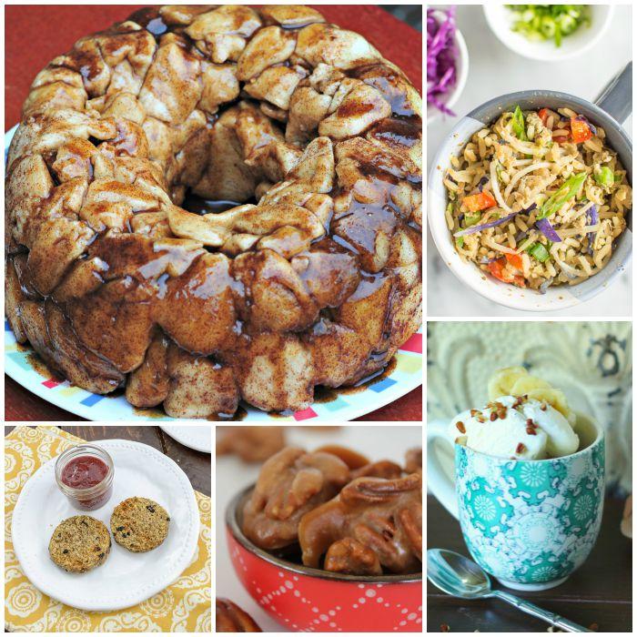 Get almost of my world-famous Microwave Mug Meals including mug cake recipes, mug breakfasts and top mug recipes including Mug Pizza & Brownie in a Mug.
