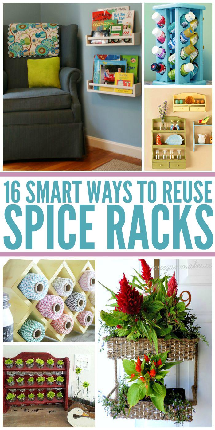 16 Smart Ways to Reuse Spice Racks