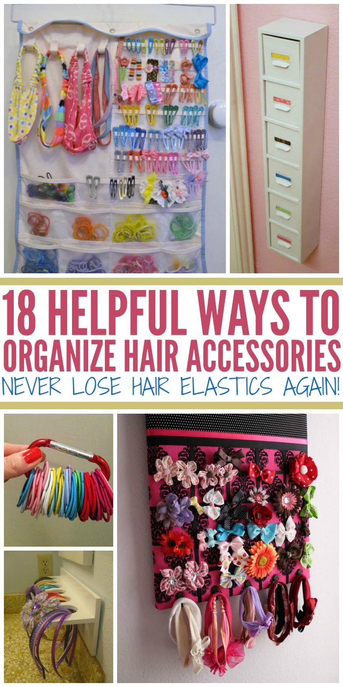 How to organize hair accessories never lose hair elastics for Simple decorating 50 ways to inspire your home