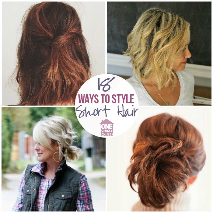 18 Easy Styles For Short Hair