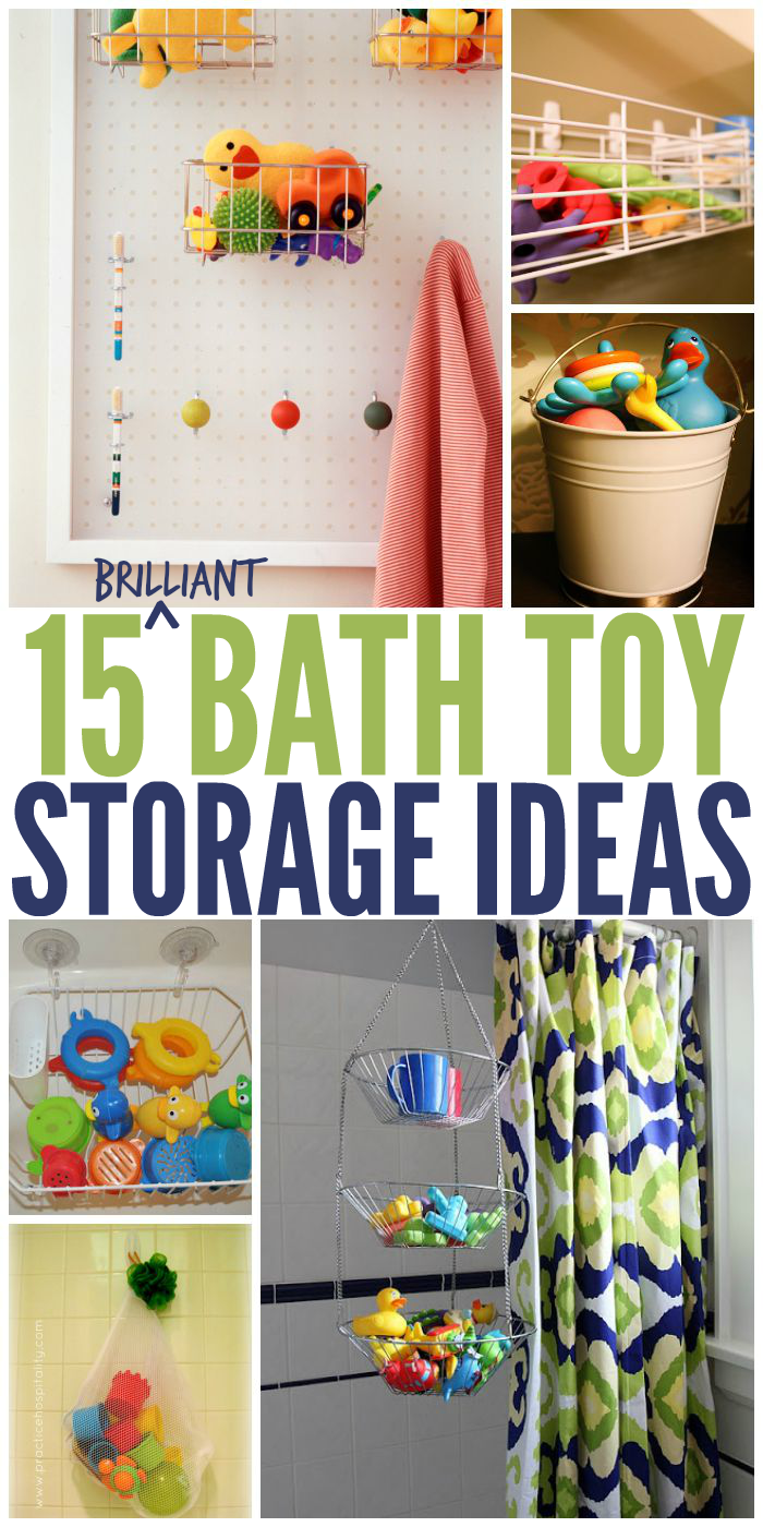 15 Brilliant Bath Toy Storage Ideas