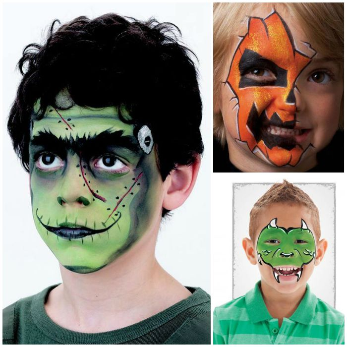 Kids Face Painting Ideas for Halloween - Cheap Halloween Face Paint Ideas