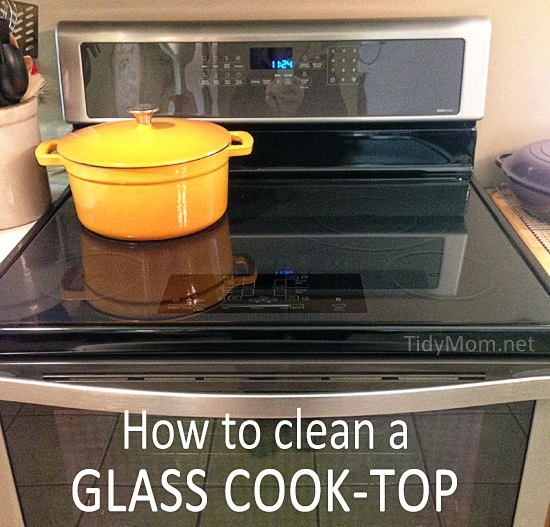 How to clean a glass cook top by tidy mom