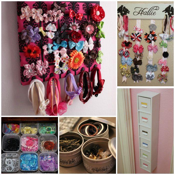 small closet arrangement ideas - How to Organize Hair Accessories Never Lose Hair Elastics