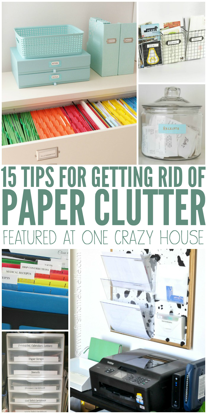 Get rid of paper clutter right now for Ways to get rid of clutter