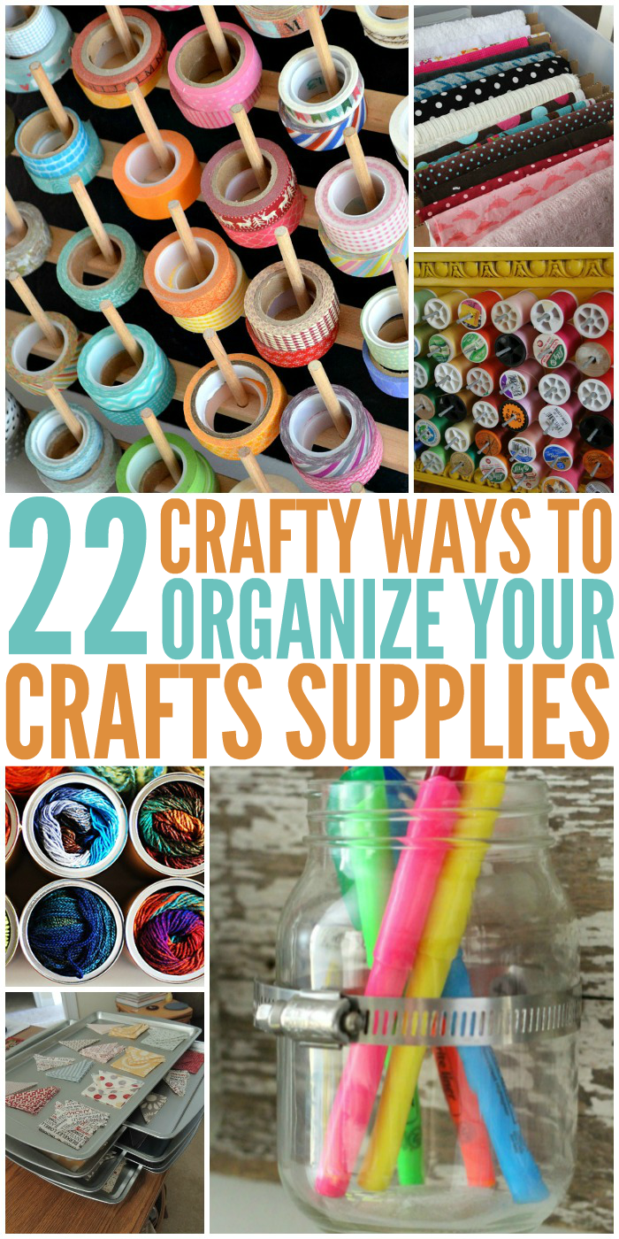 22 Crafty Ways to Organize Your Craft Supplies