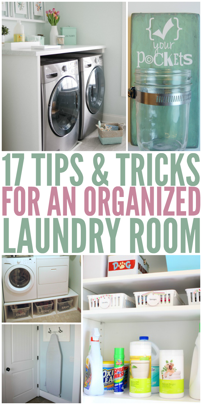 17 Tips And Tricks For An Organized Laundry Room