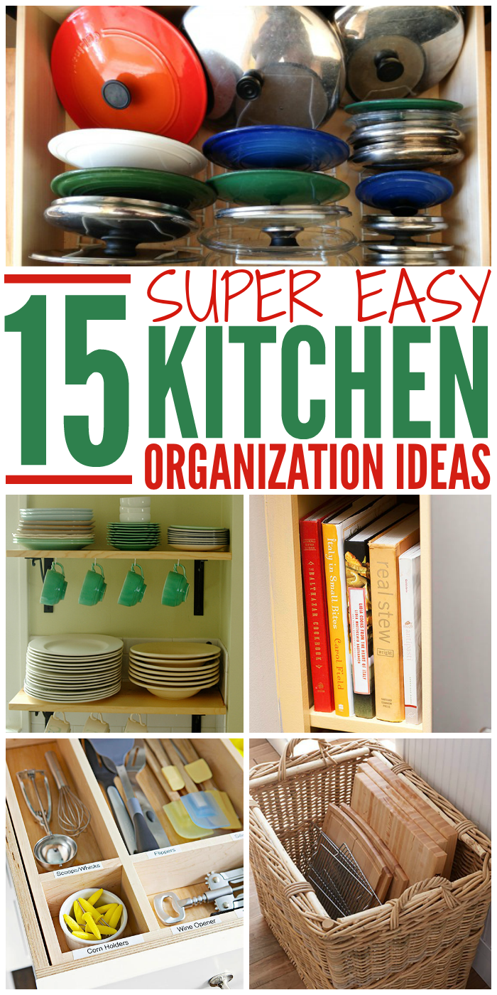 Every Kitchen could use a little organization. Check out these easy DIY organization tips and tricks for your kitchen.