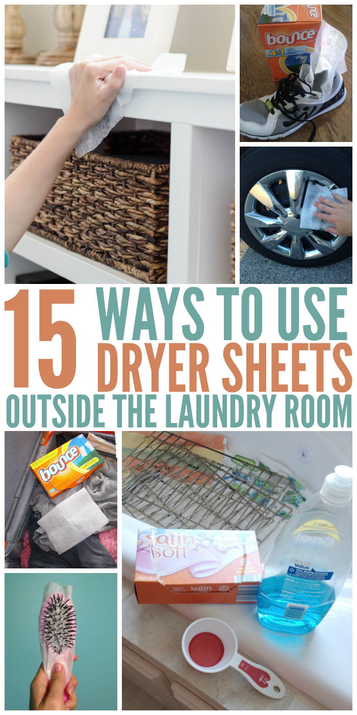 15 Ways to Use Dryer Sheets Outside the Laundry Room