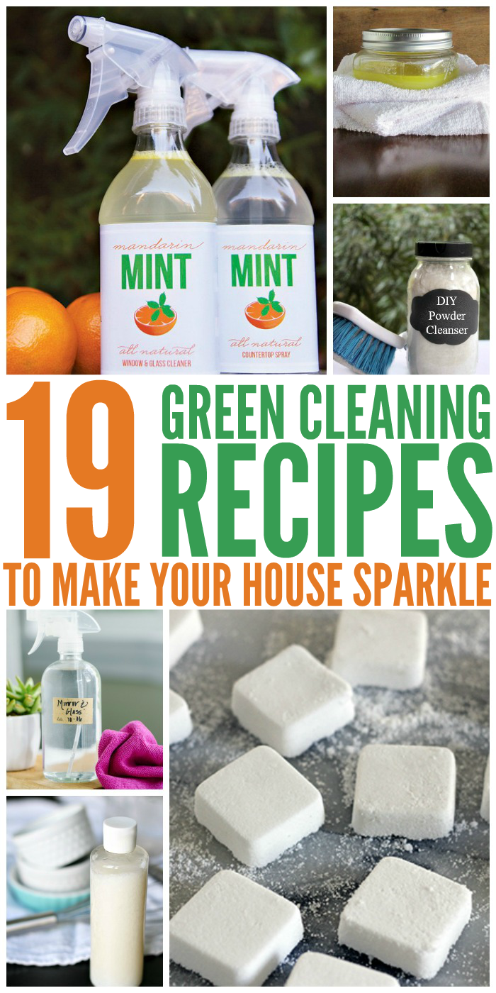 19 Green Cleaning Recipes To Make Your House Sparkle