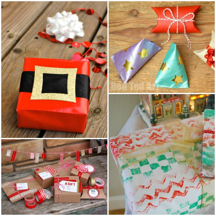 gift wrapping ideas image collage
