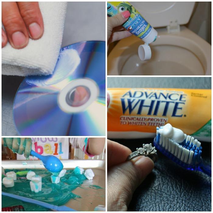 unusual ways to use toothpaste