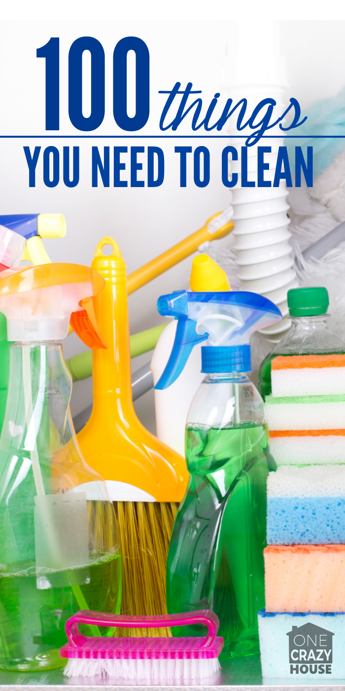 Free housecleaning checklist 100 things you need to clean for Things you need for a house