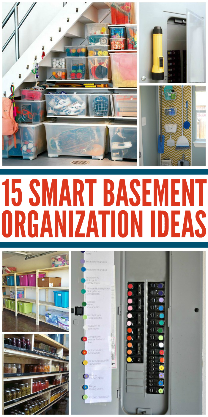 15 Smart Tips for Organizing Your Basement