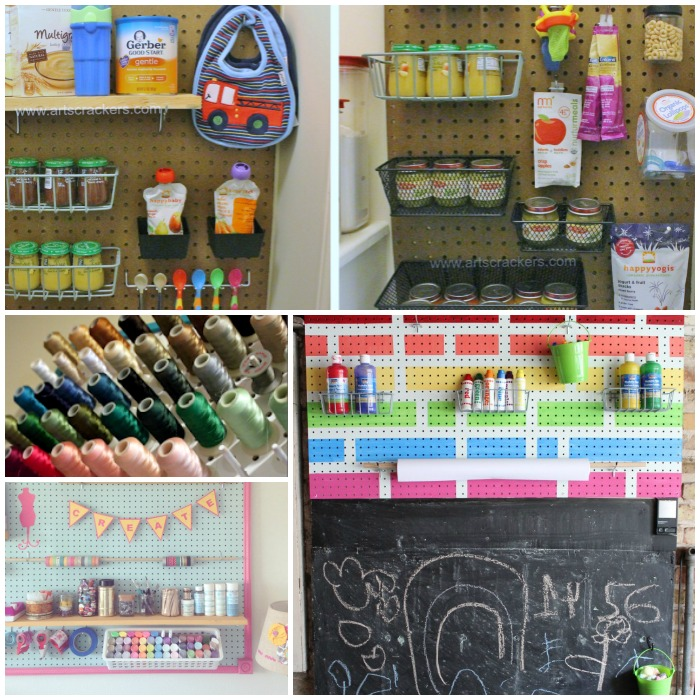 garage organization ideas pegboard - 16 Creative Ways to Organize with Pegboards