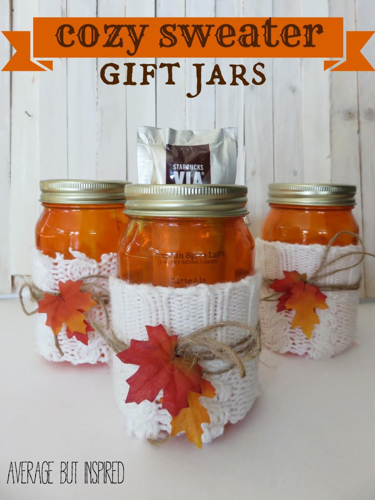 sweater mason jar cozies