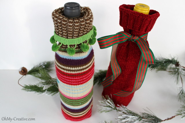 sweater wine bottle covers