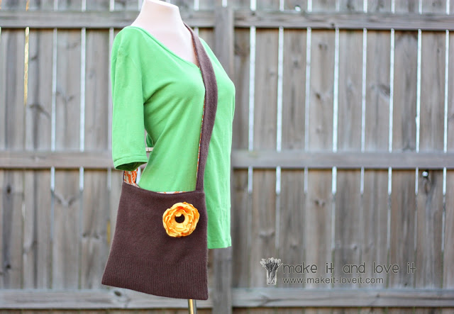 sweater sling purse