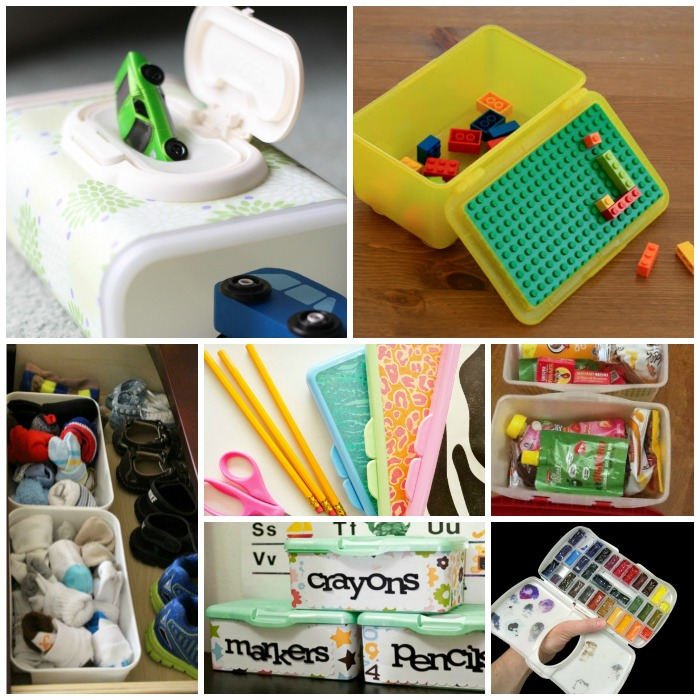 ways to repurpose wipes containers