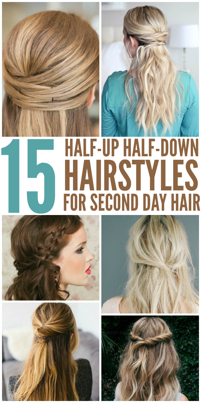 15 Simple And Cute Hairstyle Tutorials: 15 Simple Hairstyles That Are Half Up, Half Down