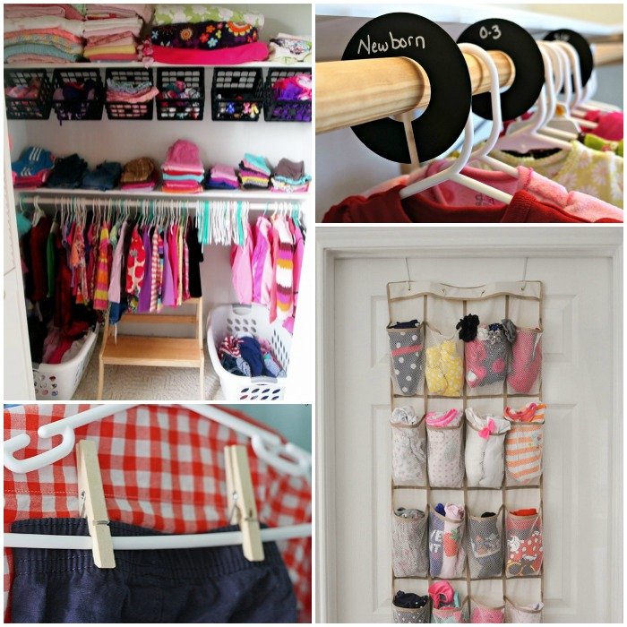 15 totally genius ways to organize baby clothes How to organize your clothes without a closet