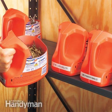 15 ideas to organize your garage - Organizing nuts and bolts ...