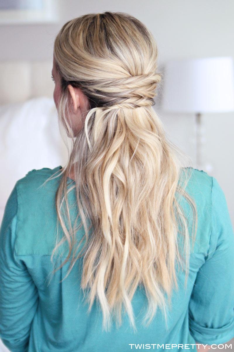 Simple Hair style Half Up Half Down