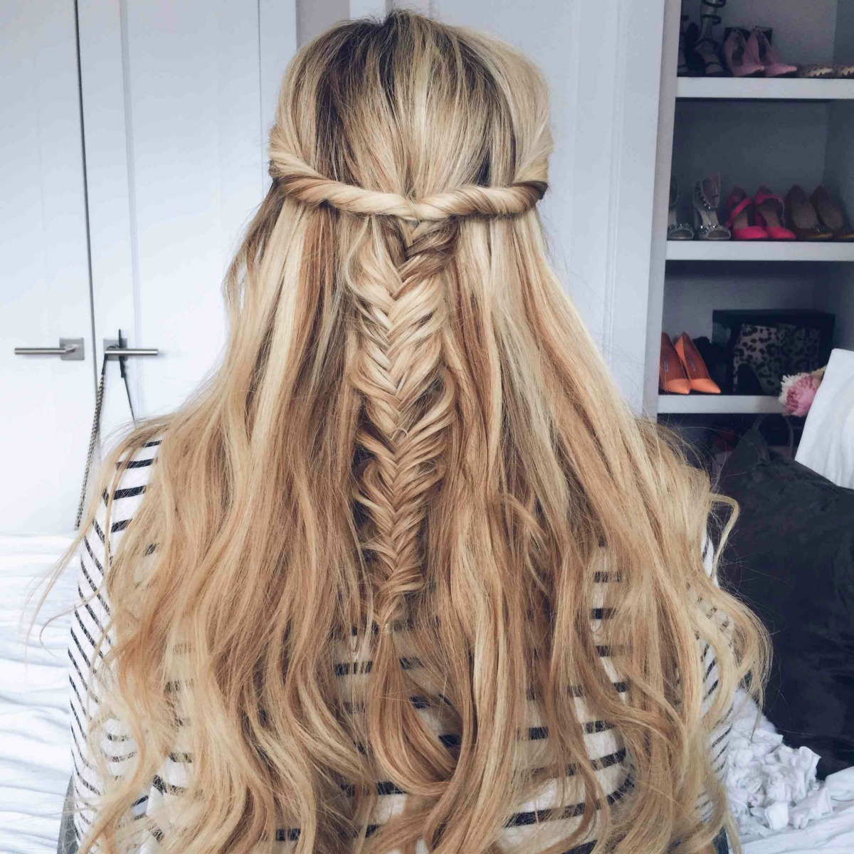 half up hairstyles 6