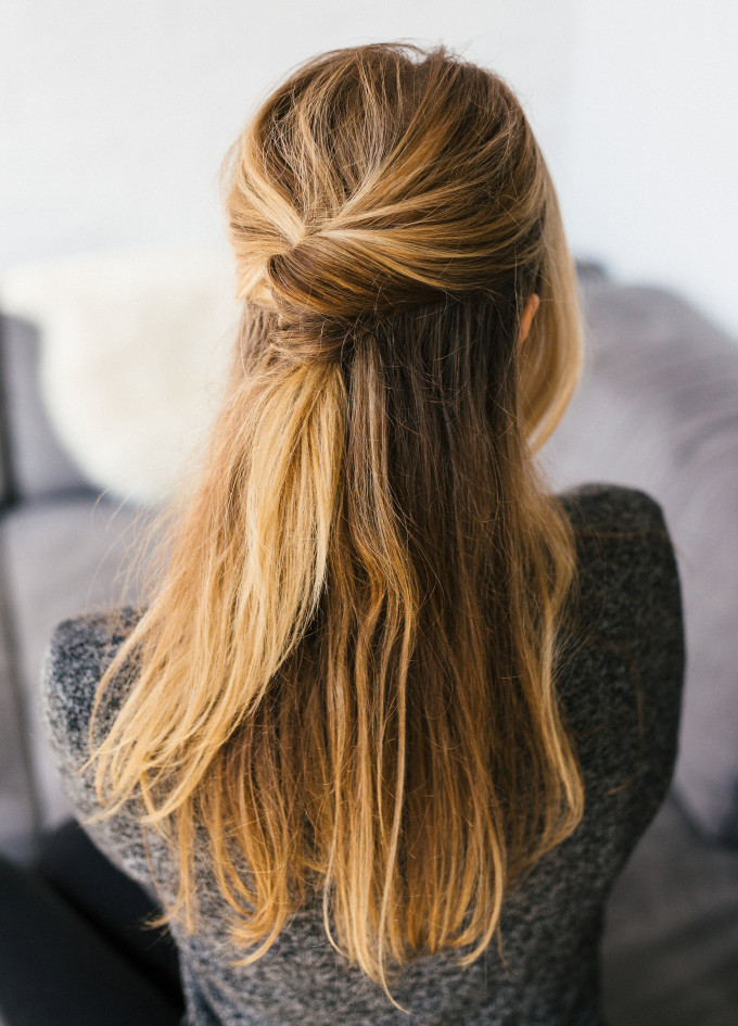hair styles half up half 15 simple hairstyles that are half up half 8840